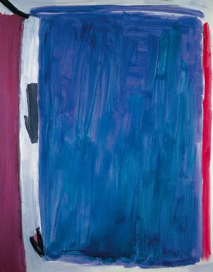 Azul Añil, 1989. Óleo sobre lienzo, 185 x 145 cm.