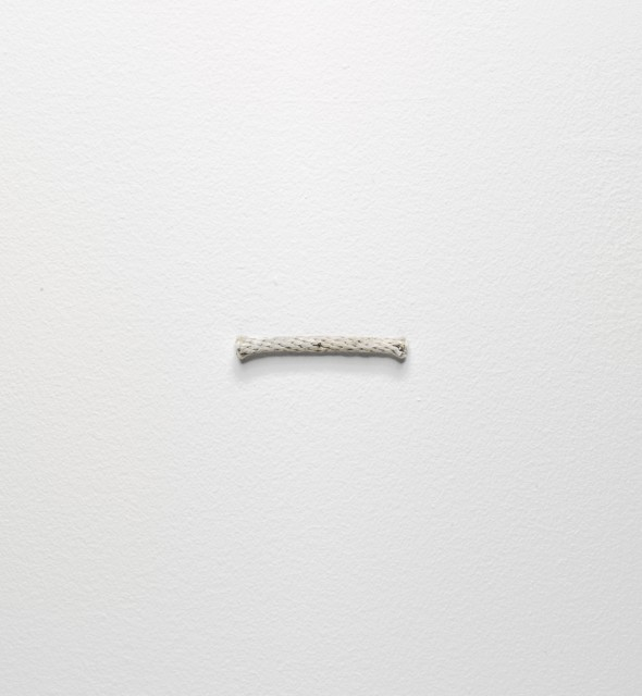 "Richard Tuttle, ""3erd rope piece"". 1974. Colección Vogel."