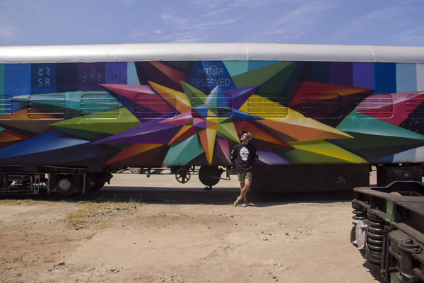 "Okuda, ""Chaos Star wholecar"", Chennai, India."
