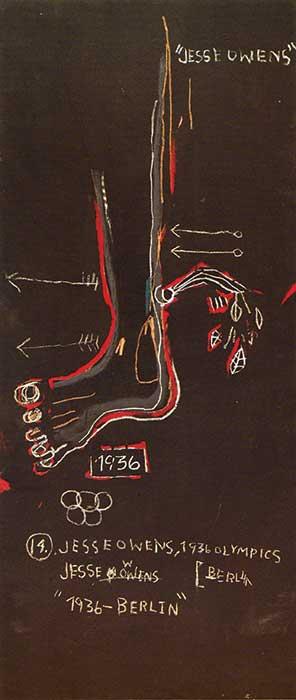 Caballo de raza negra—Jesse Owens(Dark Race Horse—Jesse Owens), 1983