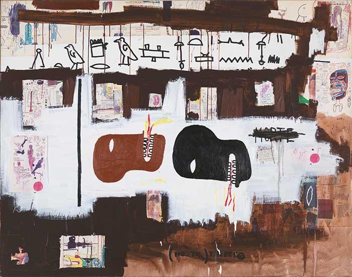 Leche oscura(Dark Milk), 1986 © Estate of Jean-Michel Basquiat. Licensed by Artestar, New York