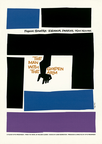 Cartel para la película The Man with the Golden Arm (1955)