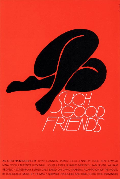 Cartel para Such good friends (1971)