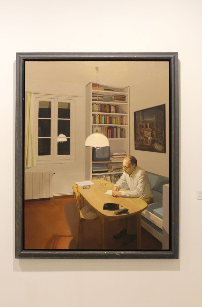 """Isabel Quintanilla. """"Interior. Paco escribiendo""""."""