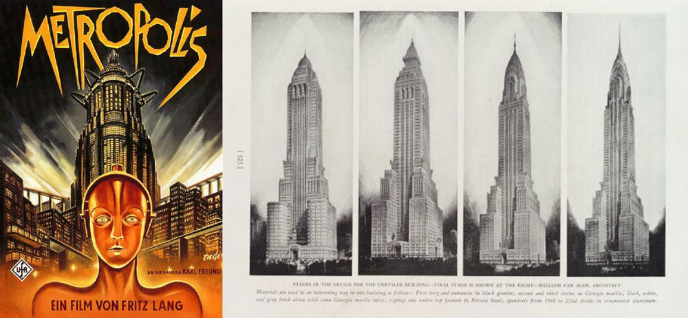 Metrópolis - 1927 - Fritz Lang y el Edificio Chrysler - 1930 - William Van Allen